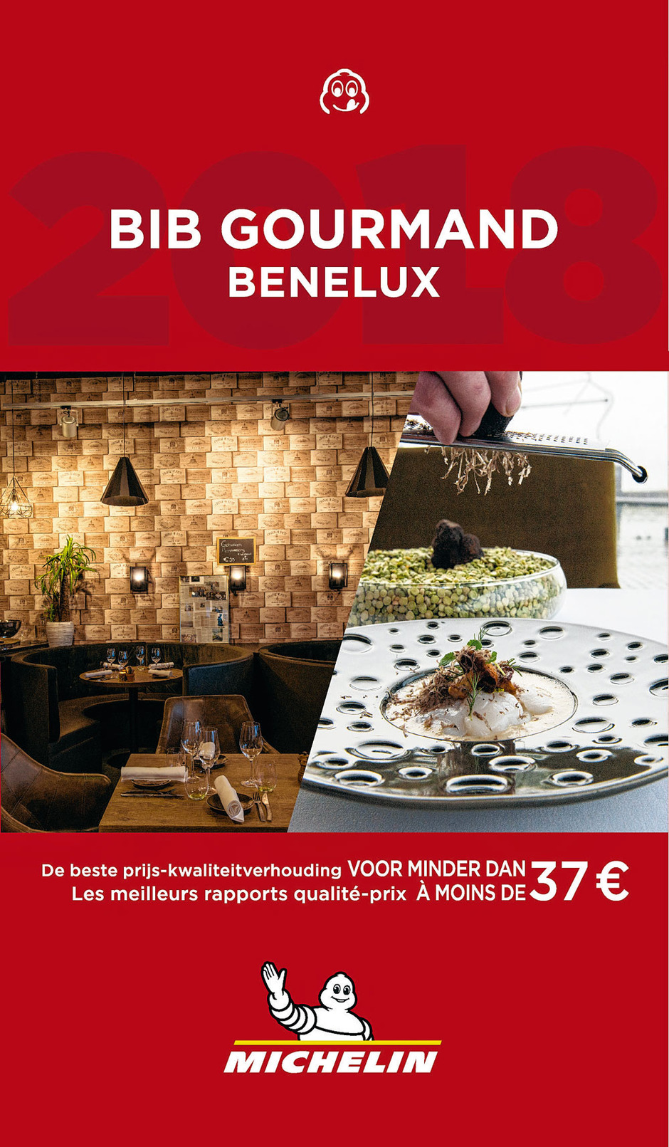 Les Bib gourmands Benelux 2018