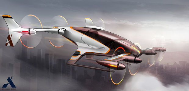 This artist rendering provided by Airbus shows a vehicle in their flying car project, Vahana. Even before George Jetson entranced kids with his flying car, people dreamed of soaring above traffic congestion. Inventors and entrepreneurs have tried and failed to make the dream a reality, but that may be changing. Nearly a dozen companies around the globe, some of them with deep pockets like Airbus, are working to develop personal aircraft that let people hop over crowded roadways. (Airbus via AP), ISOPIX