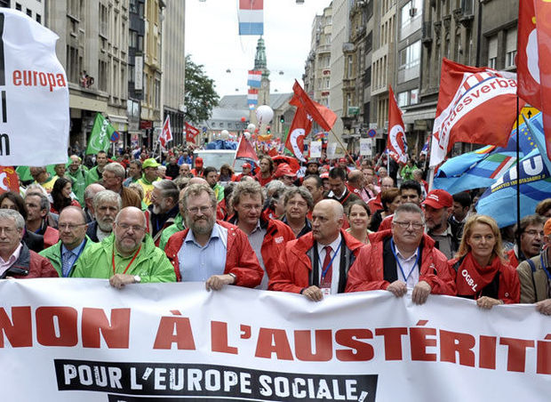 "Euromanif : ""Cette Europe-là, on la vomit !"""